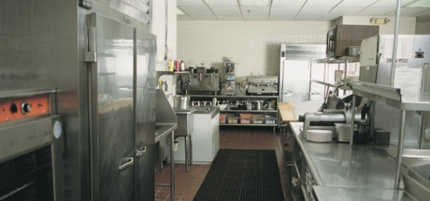 Commercial Kitchen and Refrigerator